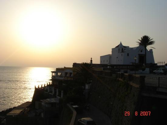 Hotel St Leonard : Sonnenuntergang in Forio