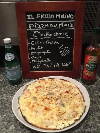 Il Piccolo Mulino : Pizza du mois de juillet    La chicken cheese