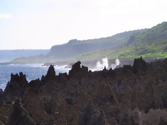 Christmas Island National Park: Feel the raw power of the blowholes amongst the jagged cliffs