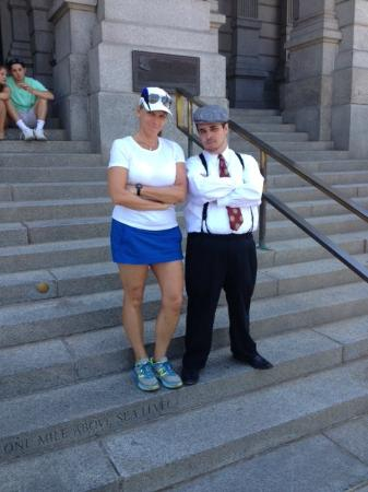 Denver Inside and Out: One Mile Above Sea Level on the Capital steps with Nick, the gangster.