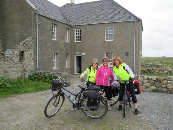 Setting off from Nunton House Hostel