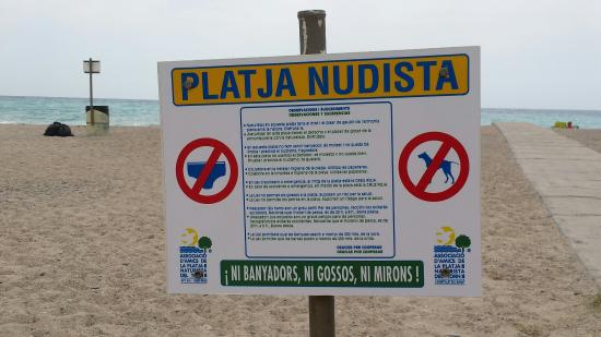 L'Hospitalet de l'Infant, Spain: Playa El Torn Naturist Beach