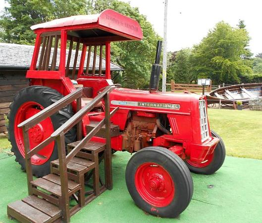Isle of Arran Heritage Museum: Red tractor
