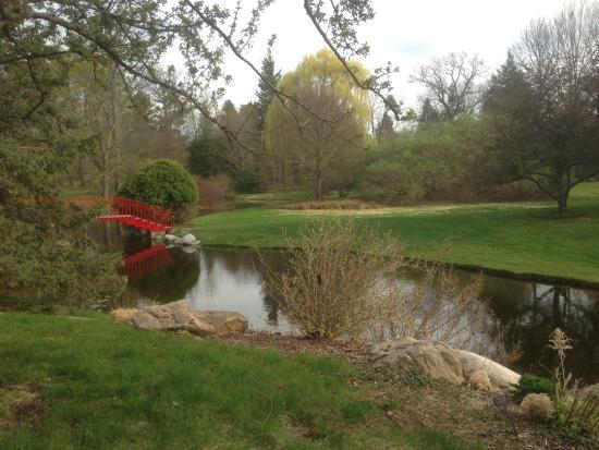 Dow Gardens: Near the red bridge