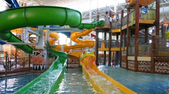 Kalahari Resorts & Conventions: Two slides in the water park area.