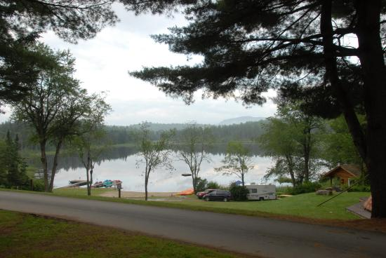 Mountain Lake Campground and RV Park : Looking at the Lake from campsite #1