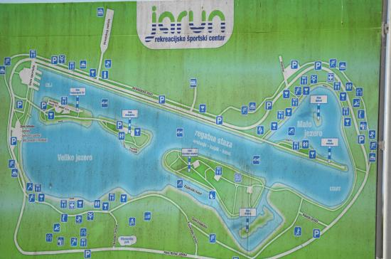 Jarun Park Map Picture of Jarun Lake Zagreb TripAdvisor
