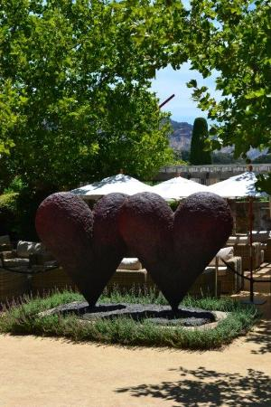 Cliff Lede Vineyards : love the hearts in the garden