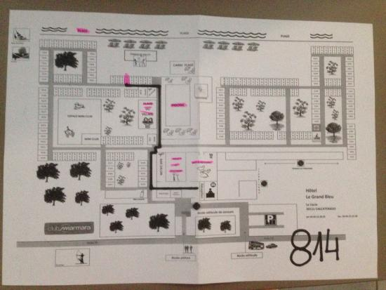 Calcatoggio, Frankrike: Plan de l'hôtel et de ses chambres