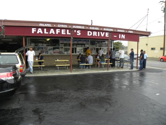 Falafel Drive-In: Rain won't keep customers away