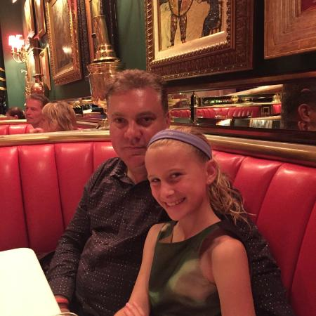 Great booths and red decor at Russian Tea Room - Picture of The ...