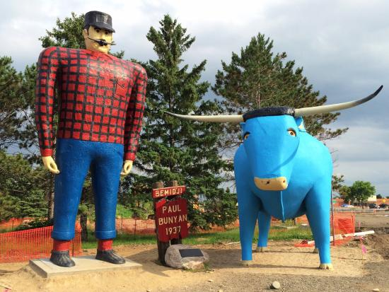Paul Bunyan And Babe The Blue Ox Bemidji MN Top Tips Before - Paul bunyan in us map