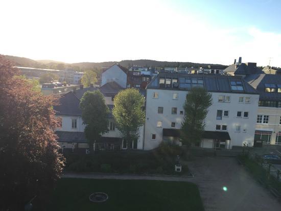 Clarion Hotel Ernst: Utsikt fra verandaen