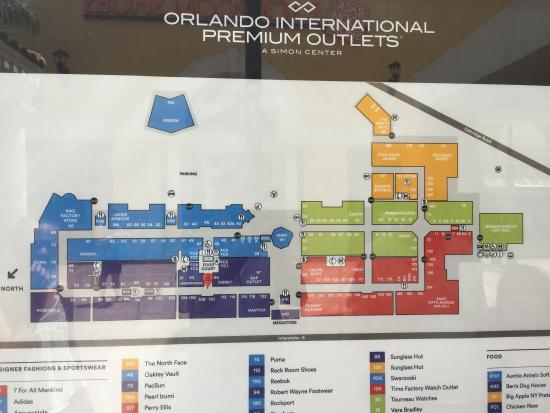 Map Of Premium Outlets Orlando Map   Picture of Orlando International Premium Outlets, Orlando
