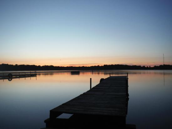 Lawrence, MI: Sunrise on Lake Cora