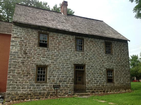 Schifferstadt : The front of the home with immaculate rows of stone was meant to impress back in the 1760's