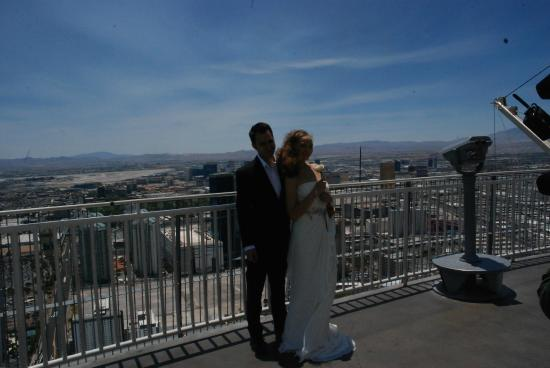 stratosphere hotel casino and tower wedding picture from stratosphere tower