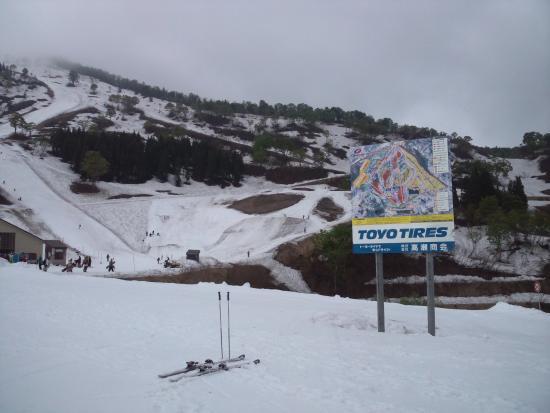 Charmant Hiuchi Snow Resort: ゲレンデマップを含めた景色