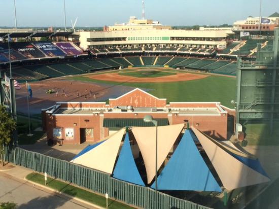Homewood Suites by Hilton Oklahoma City-Bricktown : The Bricktown Ballpark as seen from our room