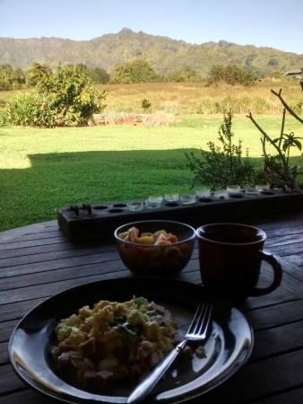 Makaleha Bed and Coffee: The view...we had breakfast outside to enjoy th view.