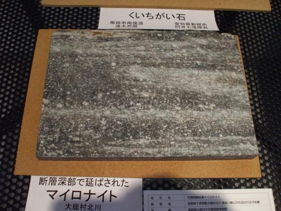 Oshika Median Tectonic Line Museum: 大鹿村特有のカシオマイロナイト
