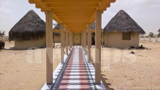 Sindh Province, Pakistan: Rest house in Nagarparkar