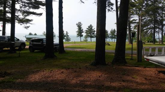 Memorial Park Campground: View from campsite number 21