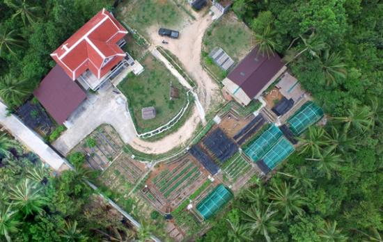 Chaweng, Thailand: Amazing Aerial view of Island Organics Thai cooking class on Koh Samui.  Let's get cooking!