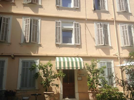 Chanteclair: Das Hotel liegt im ruhigen Hinterhof