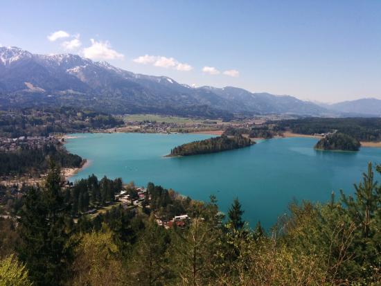 Ledenitzen, Αυστρία: View from Taborhöhe - Faaker See