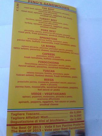 Salumeria Verdi - Pino's Sandwiches: SABORES PARA TODOS