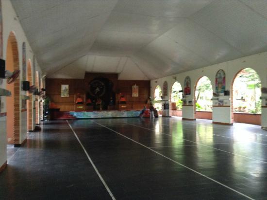 Sivananda Yoga Vedanta Dhanwantari Ashram: The main Vishnudevananda Hall