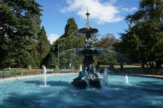 Peacock Fountain: The fountain.