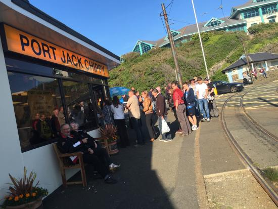 Port Jack Chippy & Diner: such a busy chippy! serves the best food