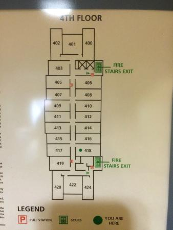 Hampton Inn Pikeville: room map
