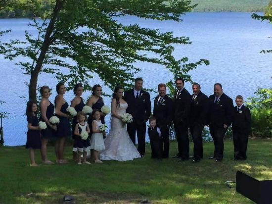 Wilson Pond Camps: A photo of our wedding party on Wilson Pond
