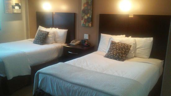 Red Roof Inn & Suites Herkimer: comfy beds with thick mattresses, clean linens, no tears, then etc.
