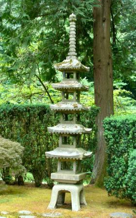 Genial Portland Japanese Garden: Pagoda Lantern