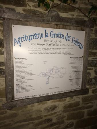 Mercatello sul Metauro, Italia: Agriturismo La Grotta dei Folletti