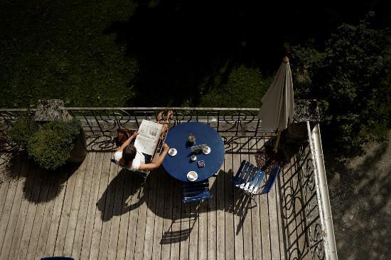 Kurhaus Berguen: Terrasse