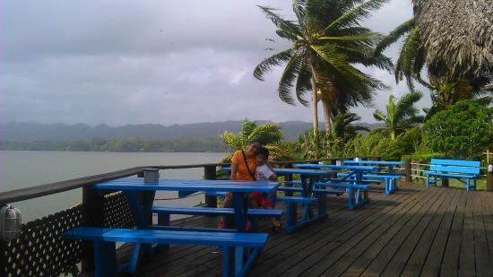 Hotel Villa Caribe: Vista desde el deck del restaurante