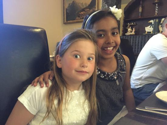 north street indian: Little ones having a fun meal out.