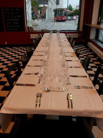 50 års middag Uppdukat för 50 års middag.   Bild från Hammarby Sjostads Kott  50 års middag