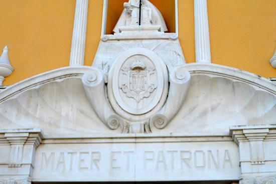Parroquia de Santa María de África: above the door