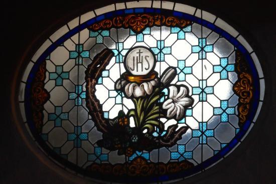 Parroquia de Santa María de África: beautiful stain glass windows