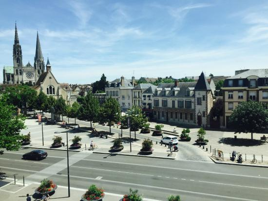 great view from our room picture of mercure chartres centre cathedrale chartres tripadvisor. Black Bedroom Furniture Sets. Home Design Ideas