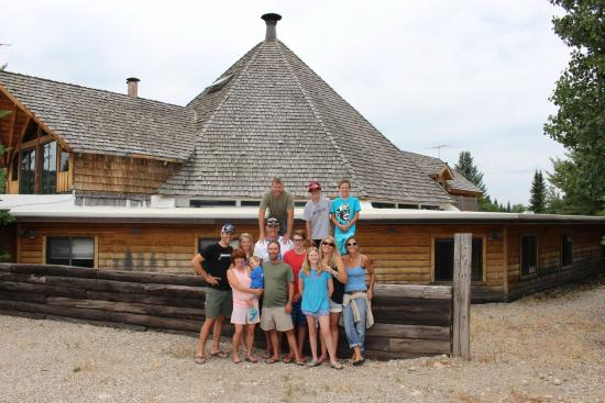 Teton Teepee Lodge: Group photo outside the Teepee