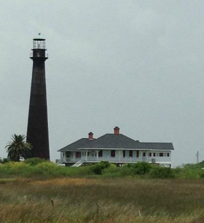 Galveston - Port Bolivar Ferry: lighthouse