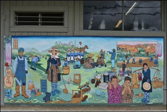Mural Showing Plantation Workers From Around Tghe World Picture Of