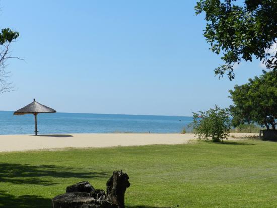 Ngala Beach Lodge: Campsite & view